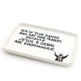 Jesus and Germs Soap Dish, Funny soap Dish, Bathroom Decor