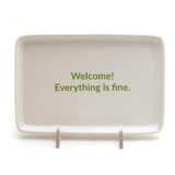 The Good Place Welcome Sign, Ceramic Tray