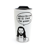 Jesus Black and White Travel Mug