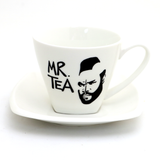 Upcycled Mr. Tea Teacup and Saucer, Altered Commercial Item