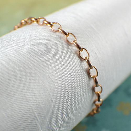 Copper chain bracelet or anklet 3.8mm wide