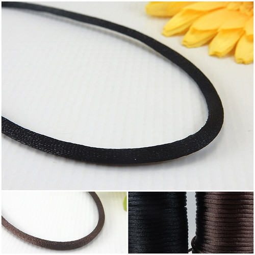 4mm thick satin necklace cords 13-36 inches