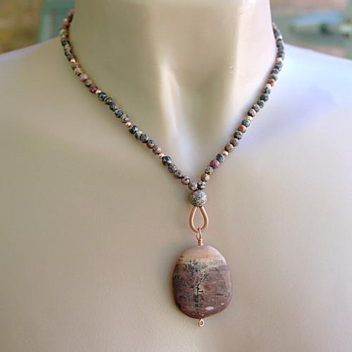 Crazy horse stone pendant necklace