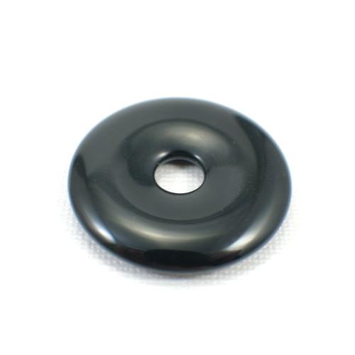 Black onyx 40mm gemstone donut
