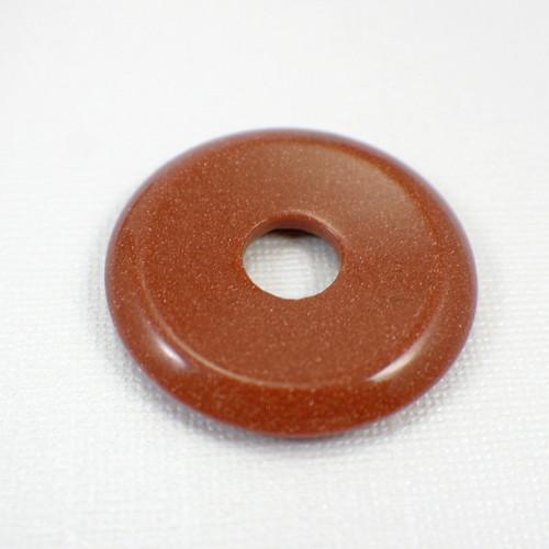 Goldstone 40mm gemstone donut