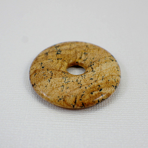 Picture jasper 40mm gemstone donut