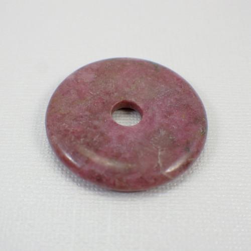 Rose rhodonite 40mm gemstone donut