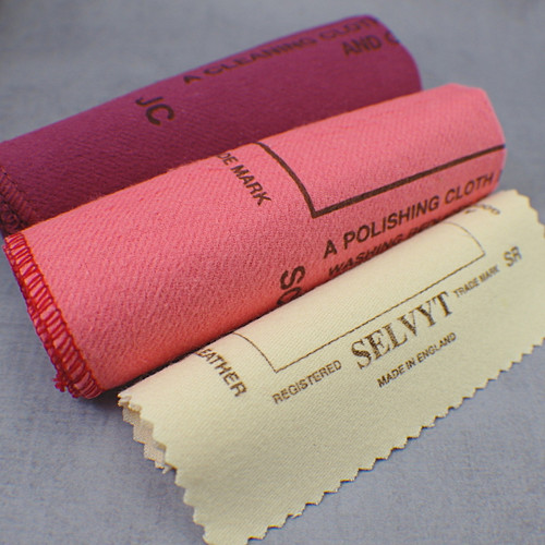 Set of 3 specialized jewelry polishing cloths