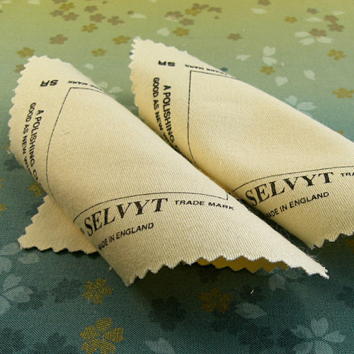 Set of 2 pearl safe jewelry polishing cloths