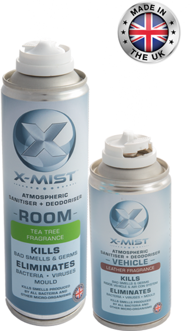 3x X-Mist Room and 3x All Surface Sanitiser