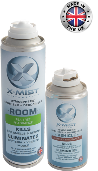 X-Mist Room and Vehicle Sanitiser: Don't Just Mask Bacteria and Bad Odours, Destroy Them