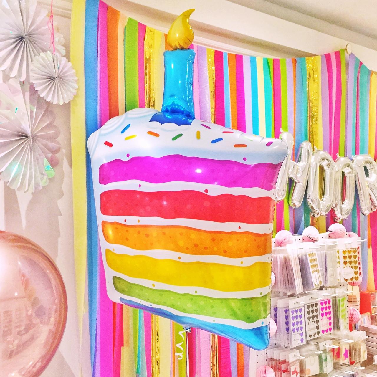 Superb Birthday Cake Helium Foil Balloon Funny Birthday Cards Online Elaedamsfinfo