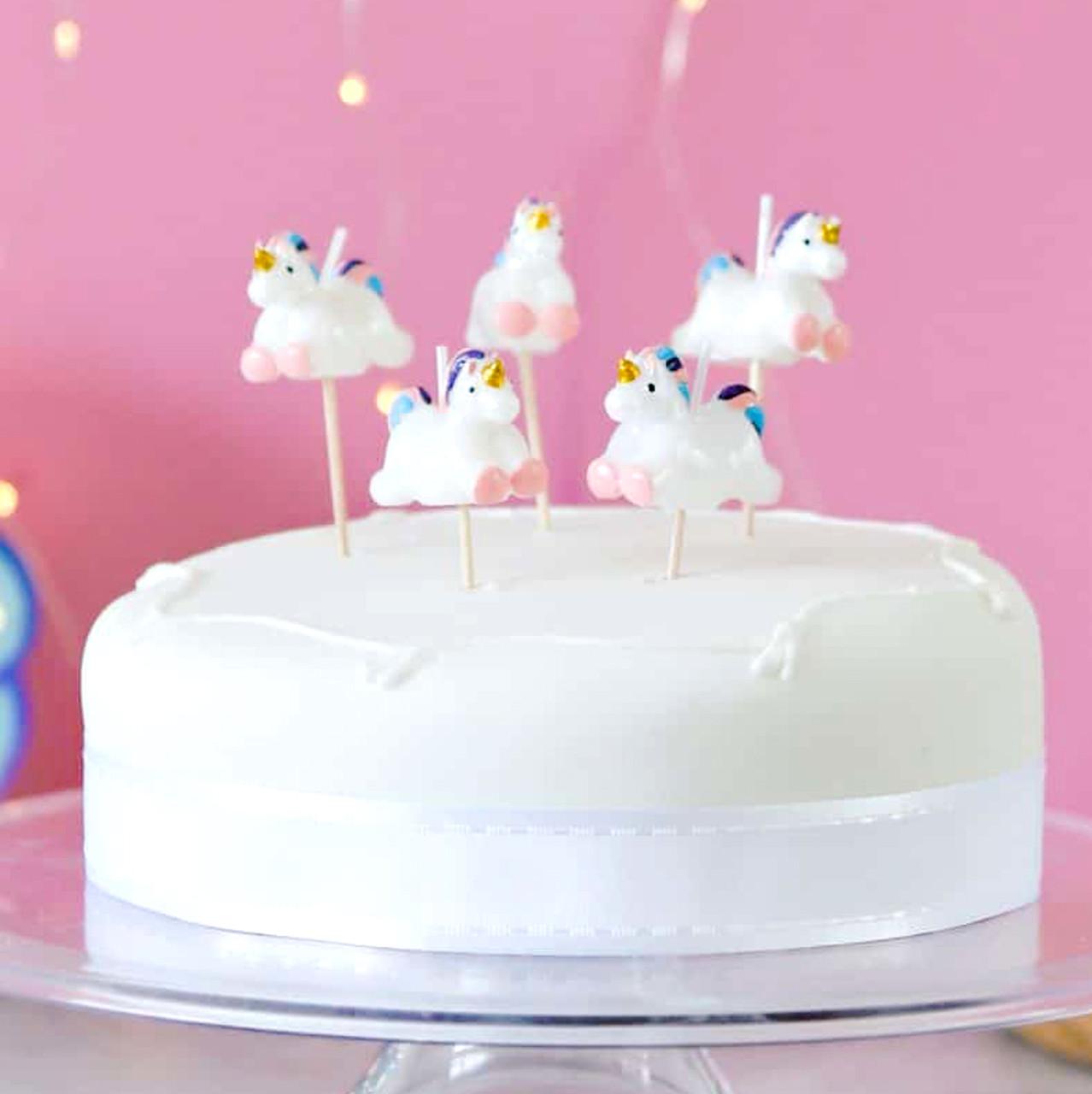 Prime Unicorn Themed Birthday Party Cake Candles Funny Birthday Cards Online Inifodamsfinfo