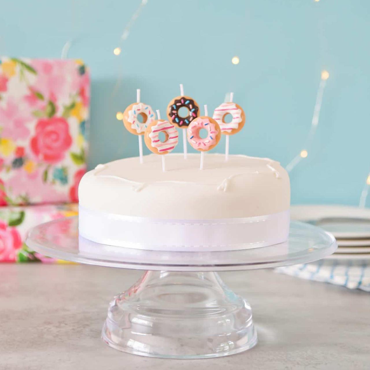 Astonishing Doughnut Birthday Cake Candles Funny Birthday Cards Online Alyptdamsfinfo