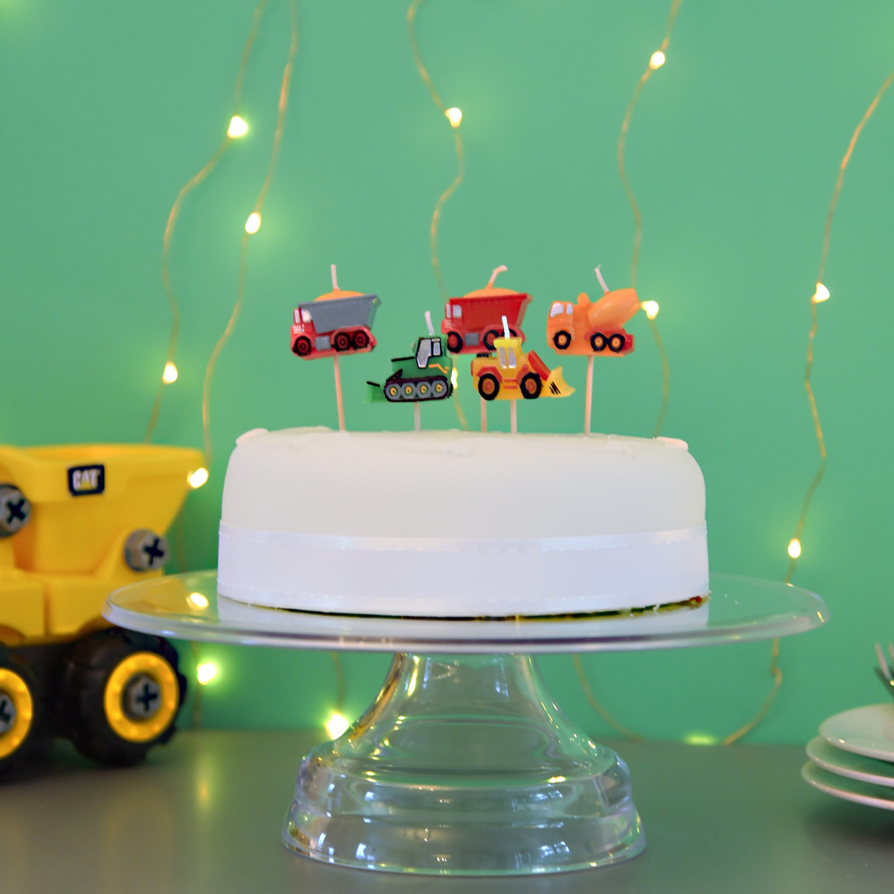 Amazing Digger Construction Birthday Party Cake Candles Funny Birthday Cards Online Elaedamsfinfo