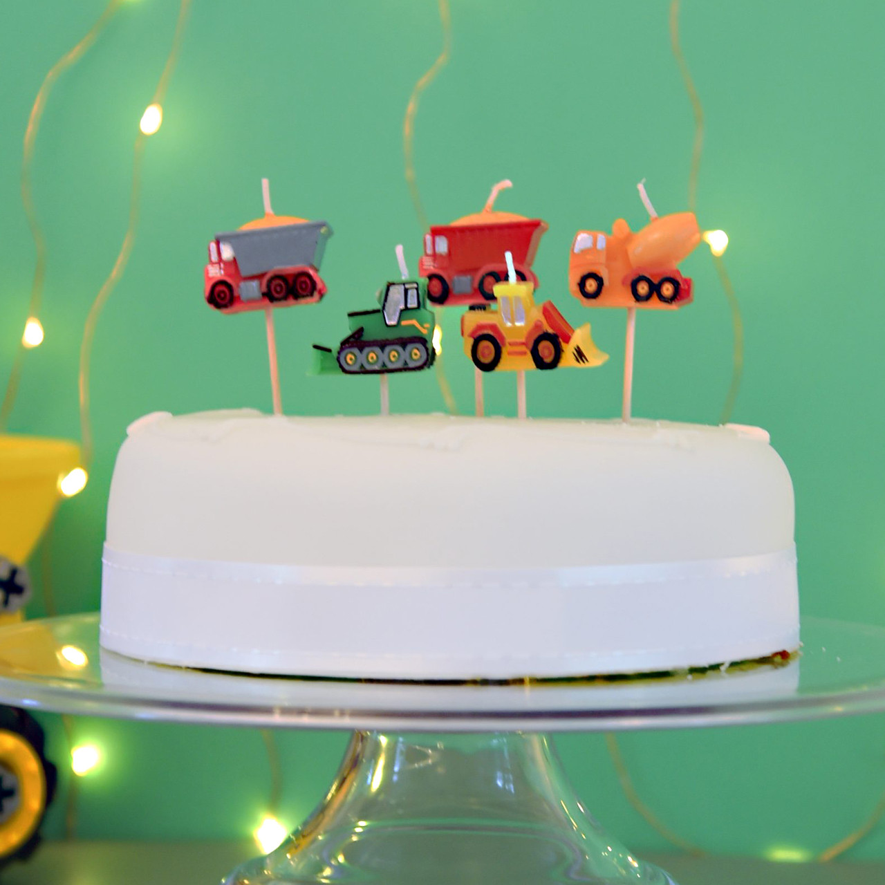 Wondrous Digger Construction Birthday Party Cake Candles Funny Birthday Cards Online Necthendildamsfinfo