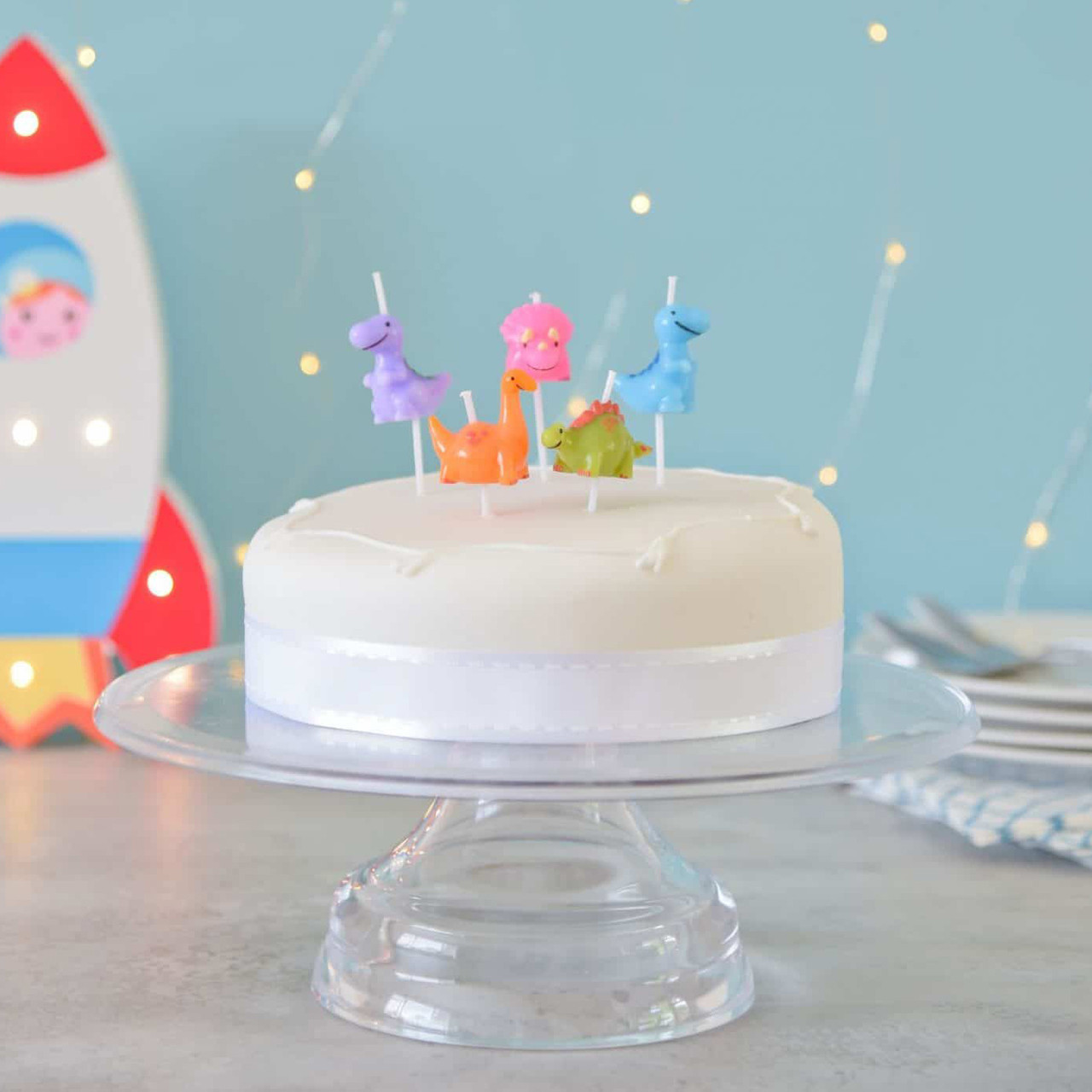 Peachy Dinosaur Birthday Cake Candles For Childrens Parties And Celebrations Funny Birthday Cards Online Inifodamsfinfo