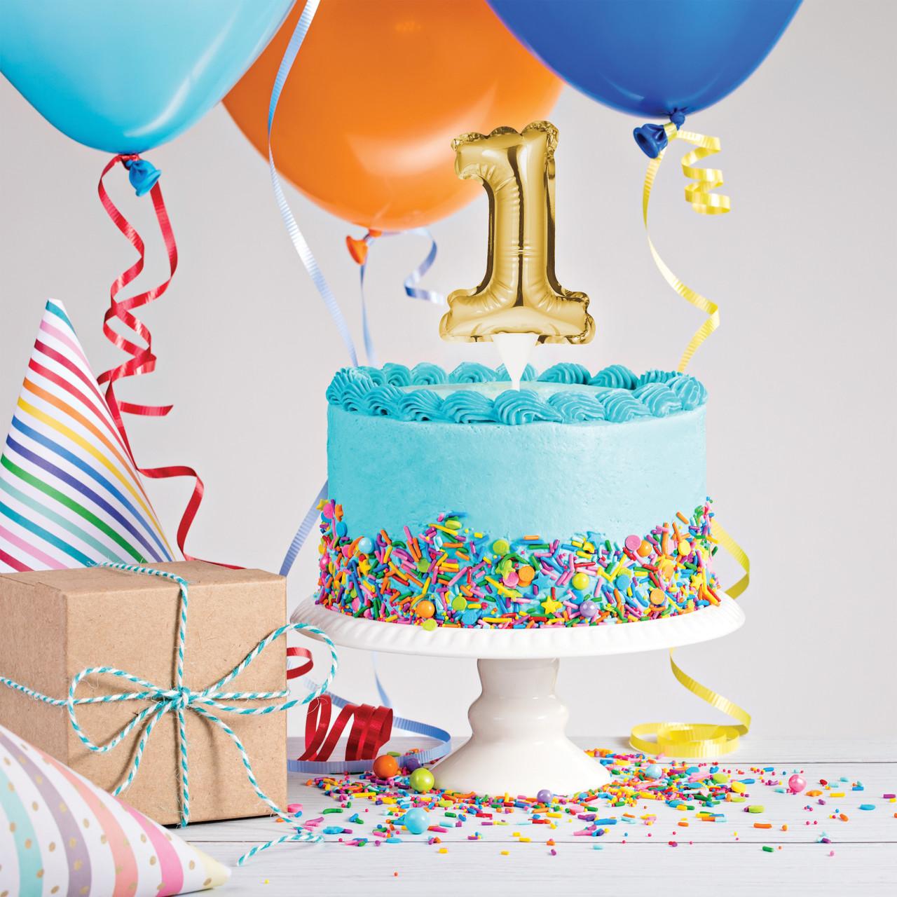 Prime Gold Number 1 Balloon Cake Topper Personalised Birthday Cards Beptaeletsinfo