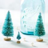Christmas Decorating with Bottle Brush Christmas Trees