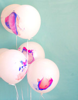 DIY Marble Party Balloons