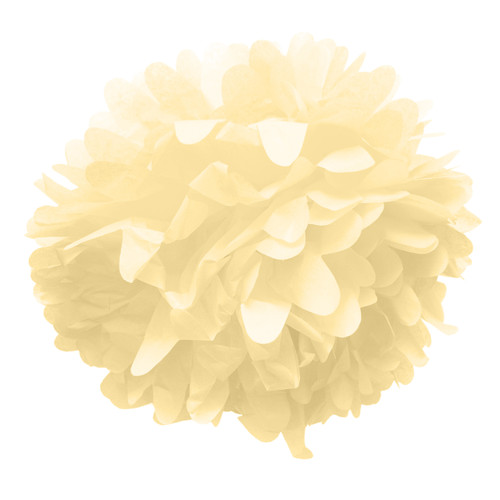 Ivory tissue paper pom pom decoration for birthday parties, weddings, hen dos and baby showers