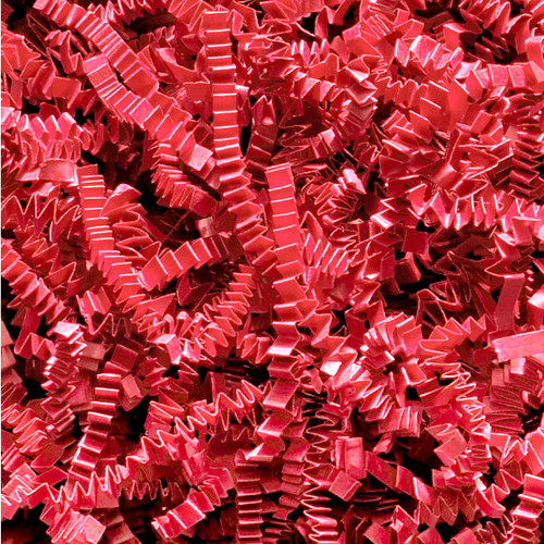 Red Crinkle cut gift wrap paper shredding for gifts, presents, craft projects and wedding favours