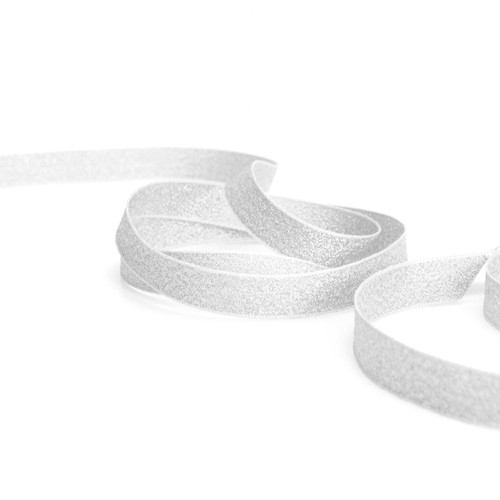 Metallic Silver Glitter Ribbon for gift wrapping, presents, wedding favours and craft projects