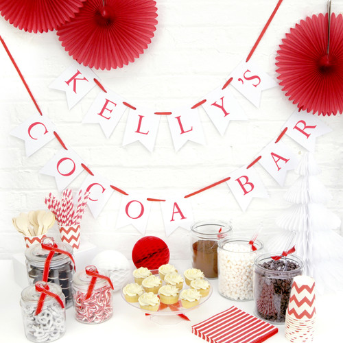 Personalised Christmas Party Bunting Decoration
