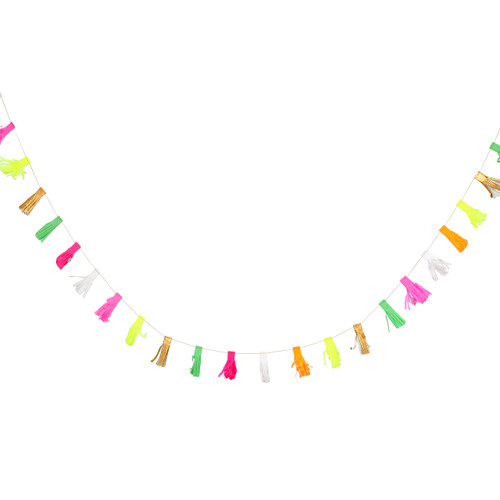 Mini Neon Tassel Garland