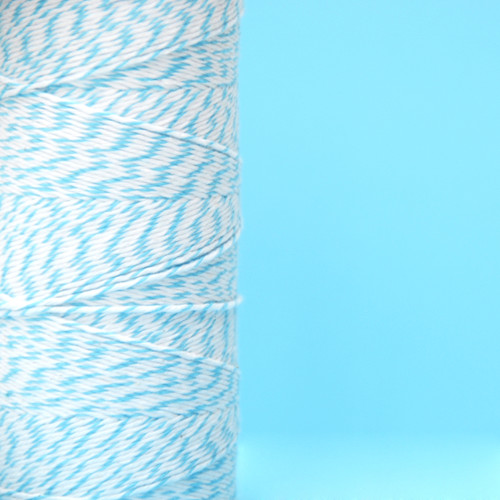 Aqua Bakers Twine made of cotton for Gift Wrap, Favours and Craft Projects