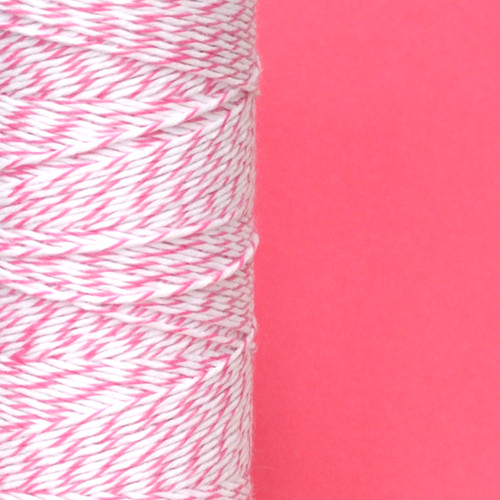 Raspberry Pink Bakers Twine made of cotton for Gift Wrap, Favours and Craft Projects