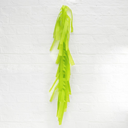 Light green tissue paper tassel tail garland for party balloons