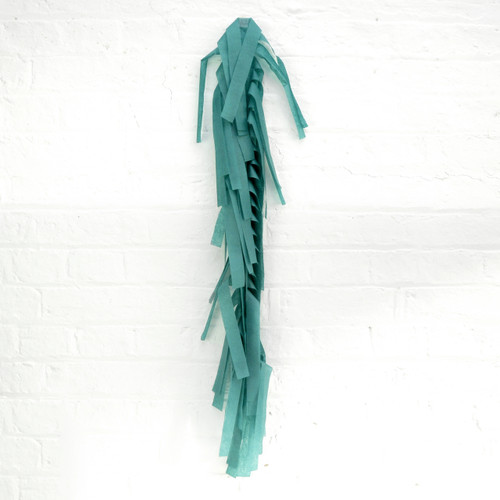 Dark green tissue paper tassel tail garland for party balloons