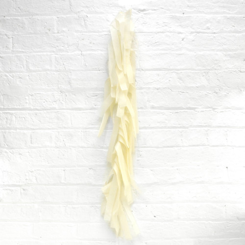 Ivory tissue paper tassel tail garland for party balloons