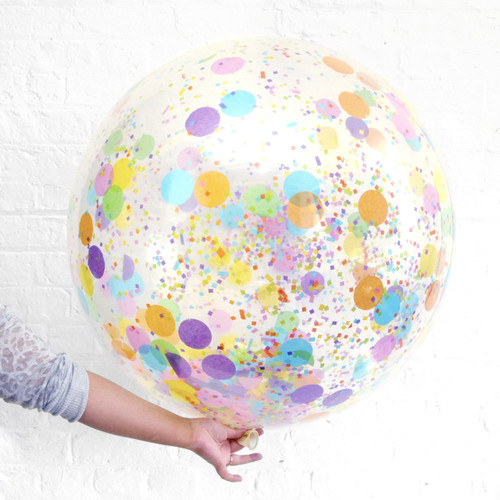 Big confetti balloon party decoration for birthdays, weddings, photo booth backdrops, anniversaries, baby showers, hen parties.