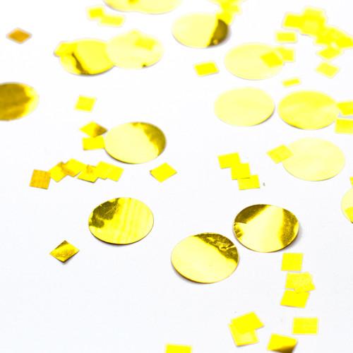 Metallic gold party confetti