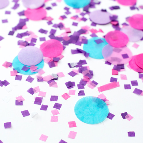 Mermaid pink, purple and blue mix tissue paper party confetti