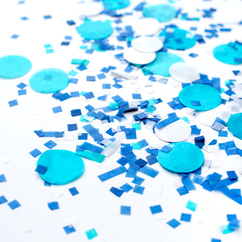 Blue frost mix tissue paper party confetti