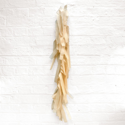 Beige tissue paper tassel tail garland for party balloons