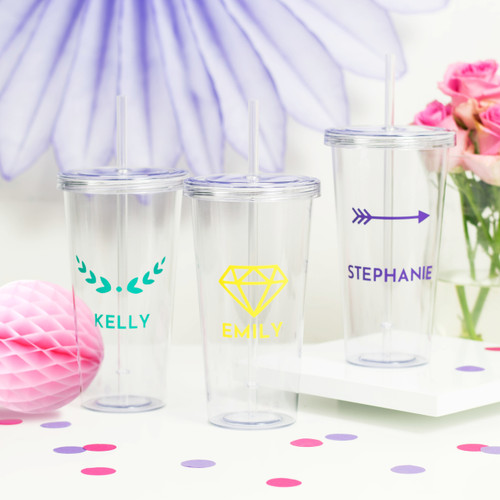 Personalised Name Drinks Tumbler - the perfect gift for smoothie lovers and iced coffee fans! Makes the perfect present for a friend or loved one on their birthday.