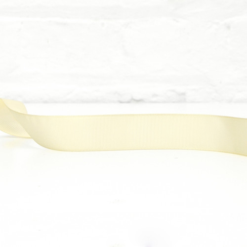 Wide cream ribbon for tying on to balloons and decorating