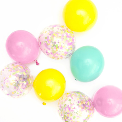 Spring pastel mix balloons for childrens birthday parties, baby showers and hen dos.