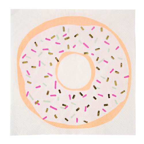 Doughnut party paper napkins for children's birthdays and celebrations