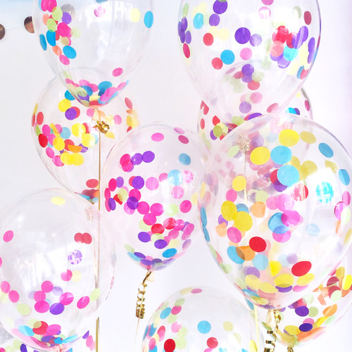 Rainbow Confetti Balloon Collection