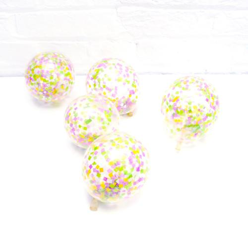 Spring sorbet confetti balloon collection