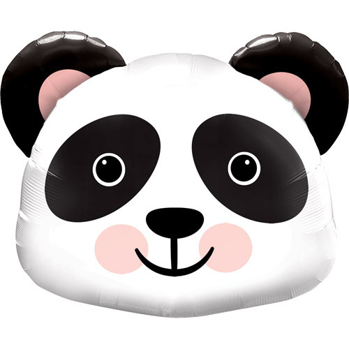 Panda foil helium party balloon decoration for safari, jungle and animal themed birthday parties