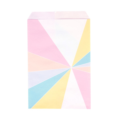 Stylish pastel patterned geometric paper party bags for childrens birthday parties, wedding favours, baby showers and hen parties
