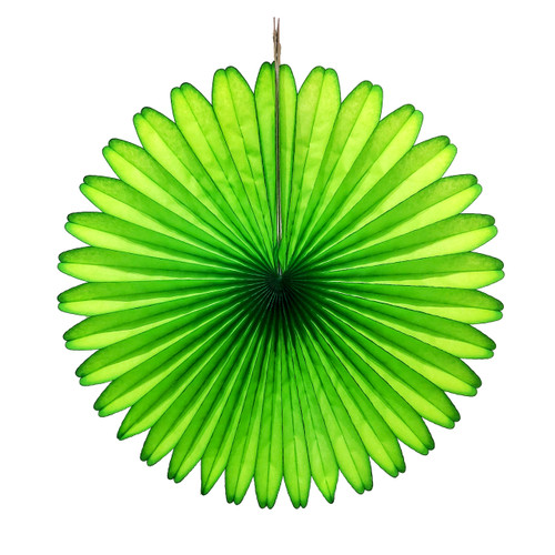 Green Tissue Paper Fan Decoration for Birthday Parties, Weddings, Baby Showers and Hen Dos