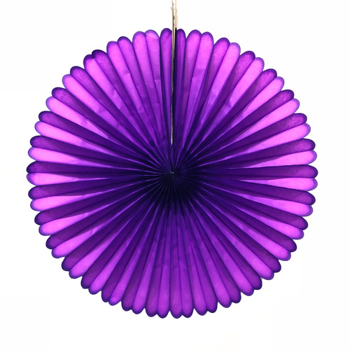 Purple Small Paper Fan
