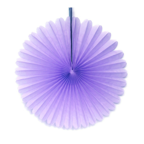 Lavender Tissue Paper Fan Decoration for Birthday Parties, Weddings, Baby Showers and Hen Dos